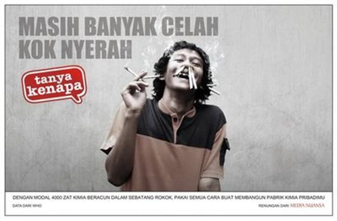 Gambar Sentilan Iklan Rokok, credit to original owner