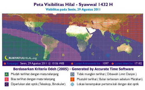 Peta Visibilitas Hilal